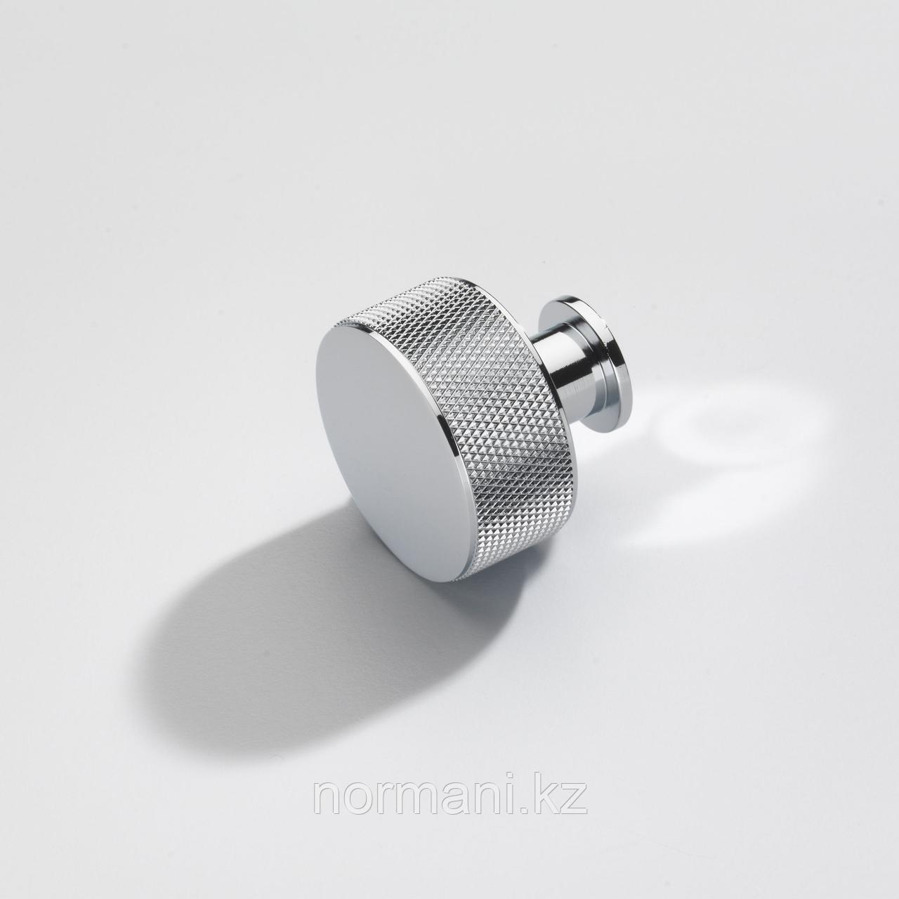 Ручка кнопка диаметр 35 мм, отделка хром глянец