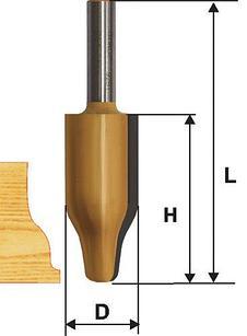 Фреза фигирейная вертикальная ф25,4х41,3мм хв 12мм