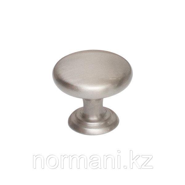 Ручка кнопка диаметр 32 мм, отделка сталь шлифованная