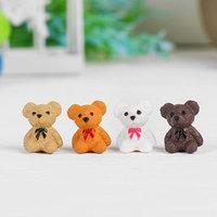 Миниатюра кукольная 'Мишка', набор 4 шт, размер 1 шт 1,8x1,4x1,1 см, цвета МИКС