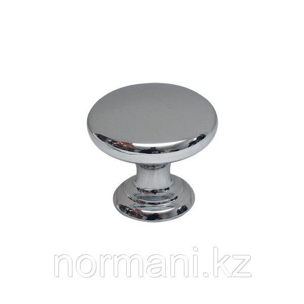 Ручка кнопка диаметр 32 мм, отделка хром глянец