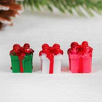 Миниатюра кукольная 'Подарочек', набор 4 шт, размер 1 шт 1,5x1,5x1,6 см, цвета МИКС