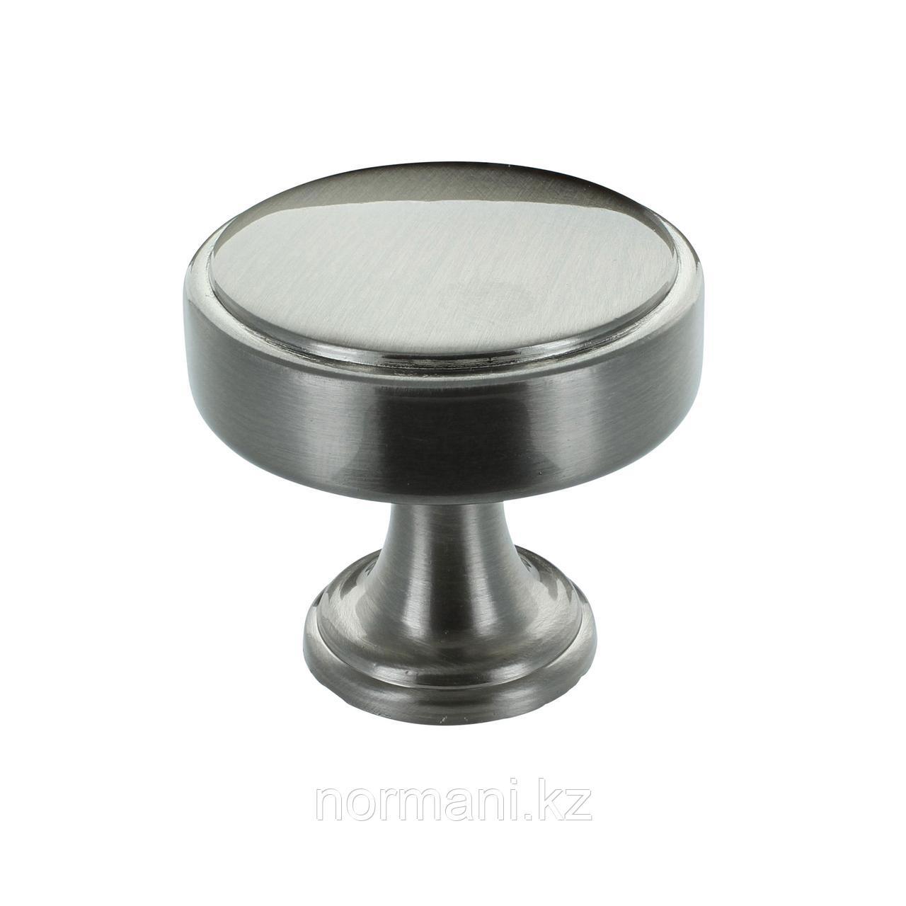 Ручка кнопка диаметр 35мм, отделка сталь шлифованная