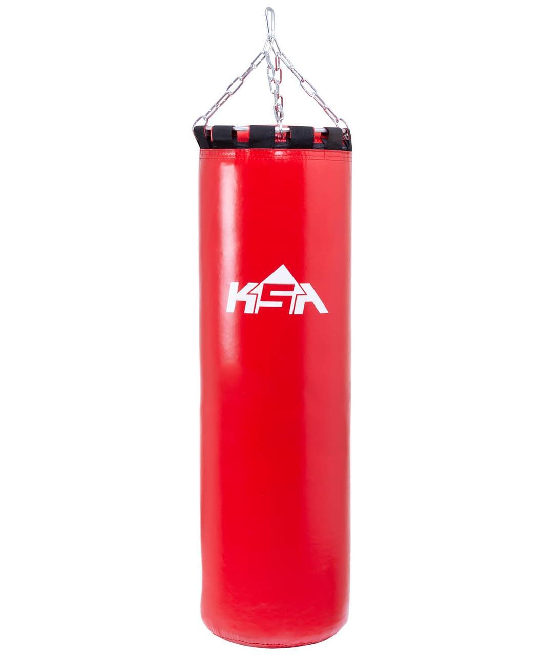 Мешок боксерский груша 110 см, 40 кг, тент, красный KSA