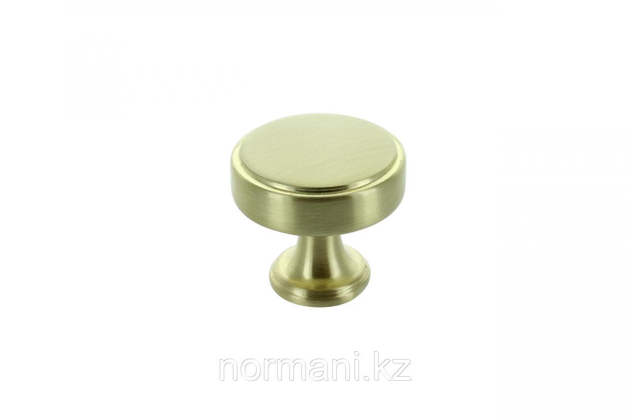 Ручка кнопка диаметр 40мм, отделка золото матовое