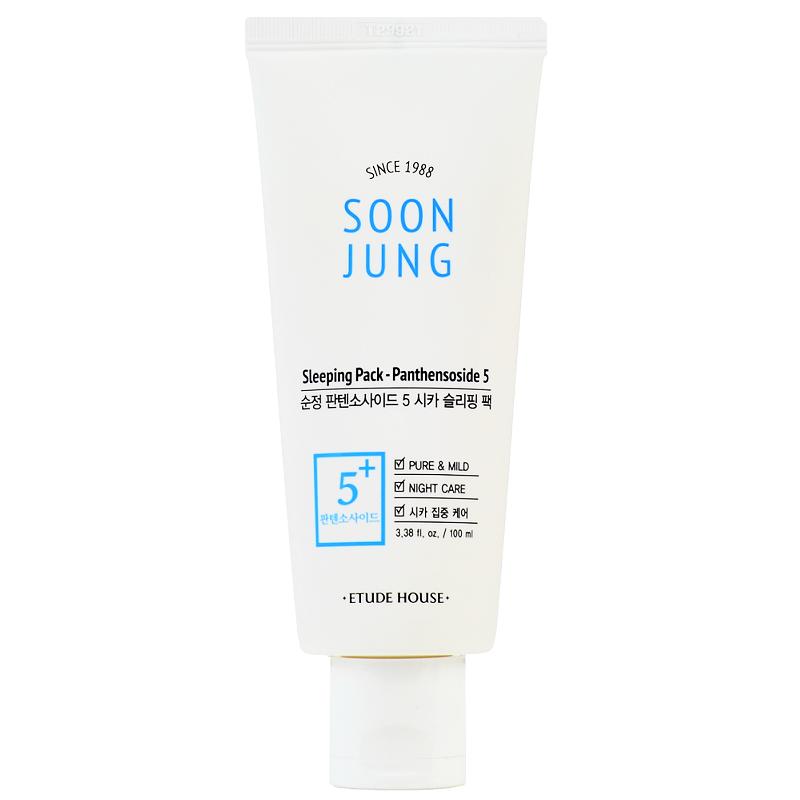 Etude House Ночная маска для ухода за Чувствительной кожи Soon Jung Sleeping Pack Panthensoside 5 100мл.