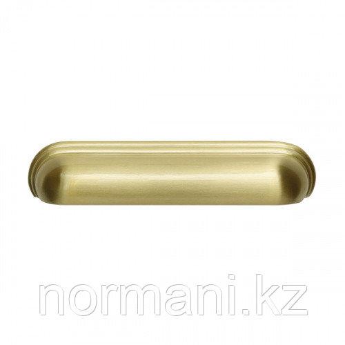 Ручка ракушка 128мм, отделка золото матовое