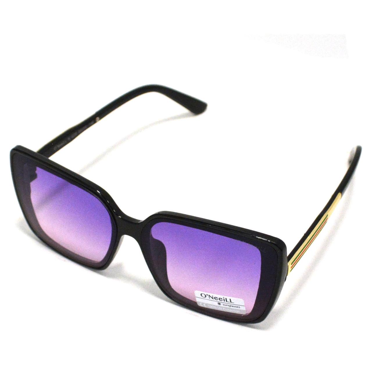 Солнцезащитные очки с фиолетовыми стеклами с узором на дужке UV 400 O'NeeiLL N G 28 черные - фото 3