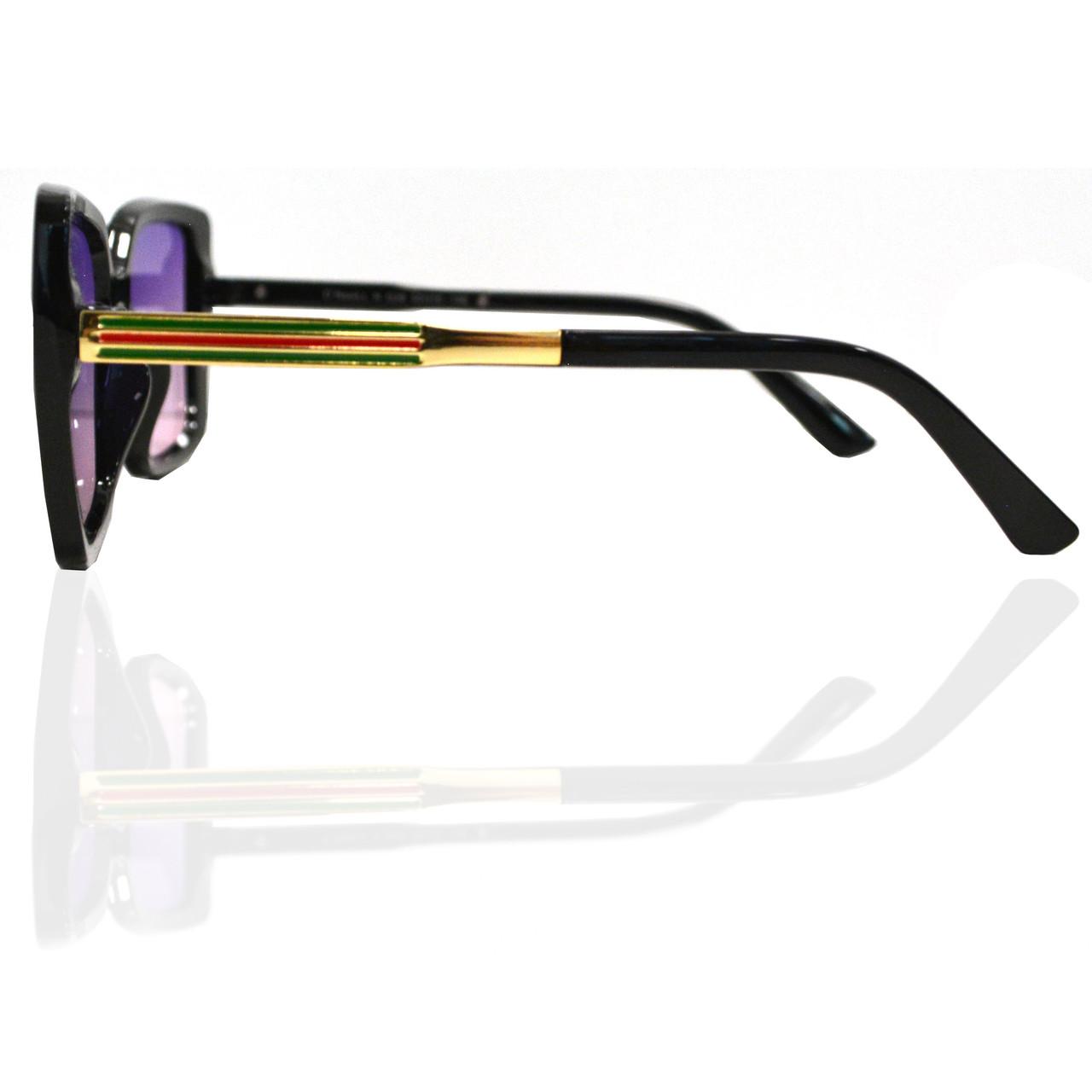 Солнцезащитные очки с фиолетовыми стеклами с узором на дужке UV 400 O'NeeiLL N G 28 черные - фото 5