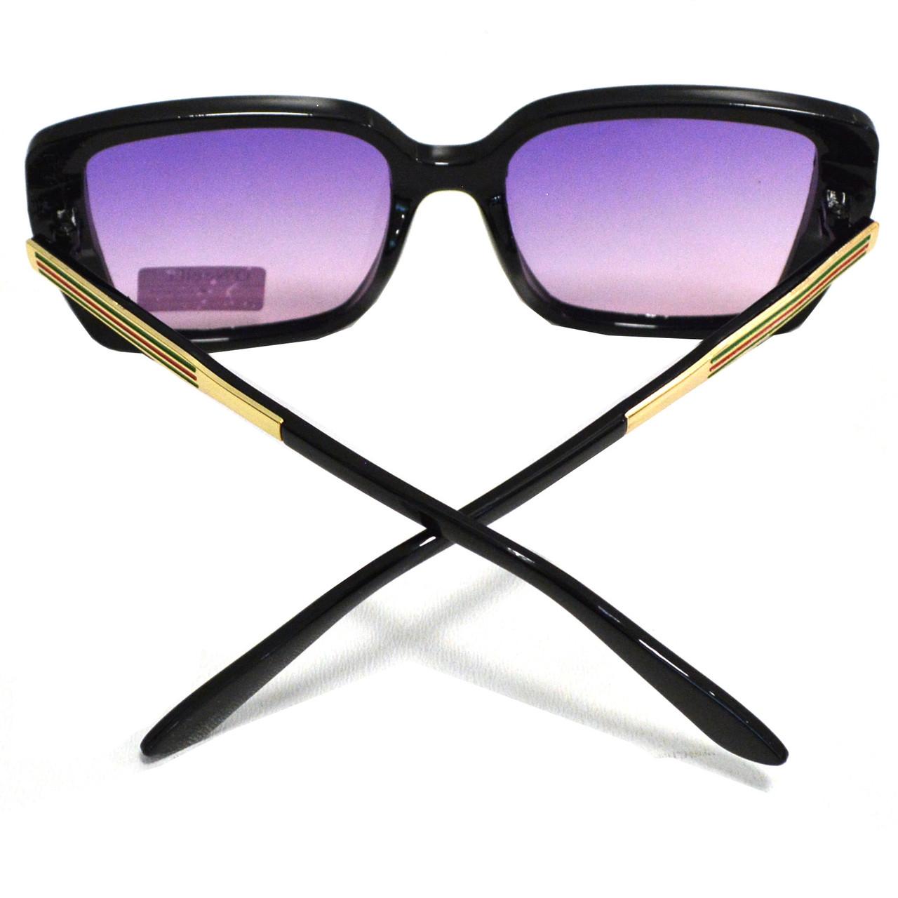 Солнцезащитные очки с фиолетовыми стеклами с узором на дужке UV 400 O'NeeiLL N G 28 черные - фото 4