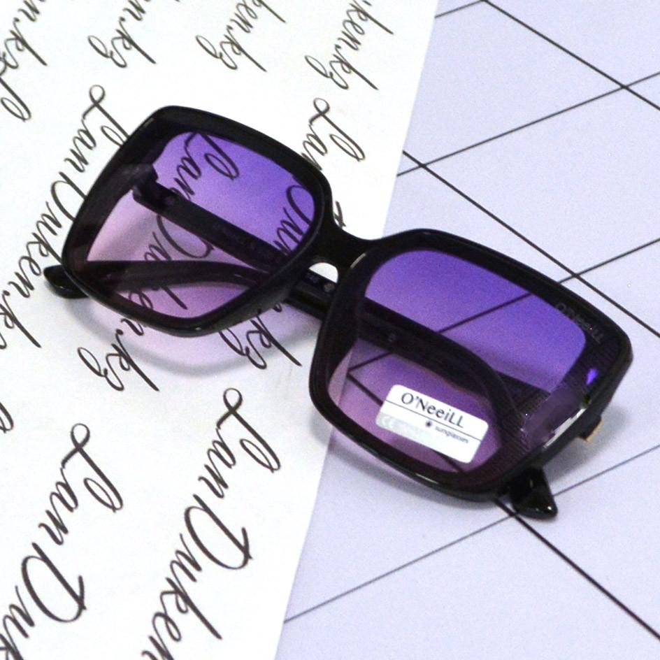Солнцезащитные очки с фиолетовыми стеклами с узором на дужке UV 400 O'NeeiLL N G 28 черные - фото 6