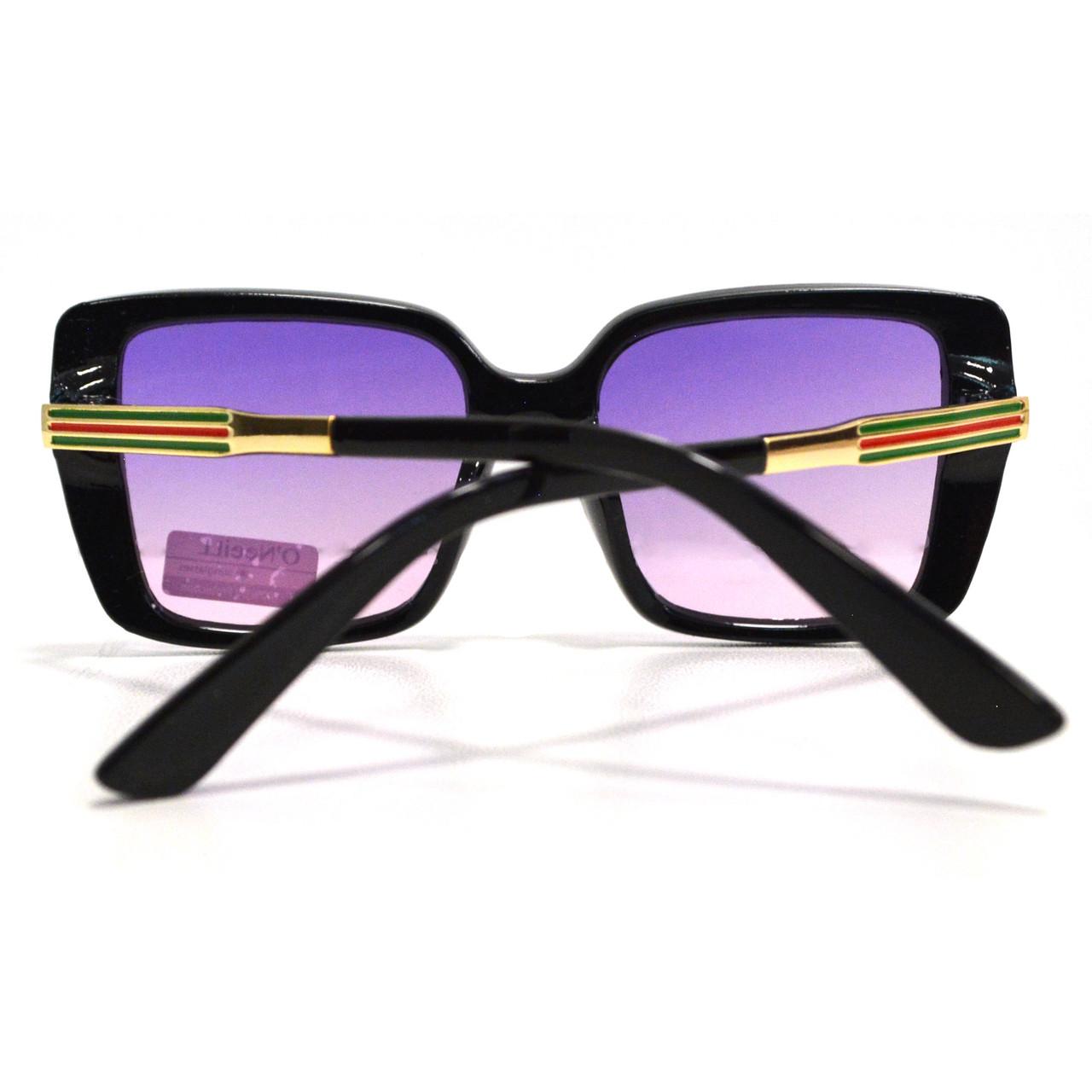 Солнцезащитные очки с фиолетовыми стеклами с узором на дужке UV 400 O'NeeiLL N G 28 черные - фото 7