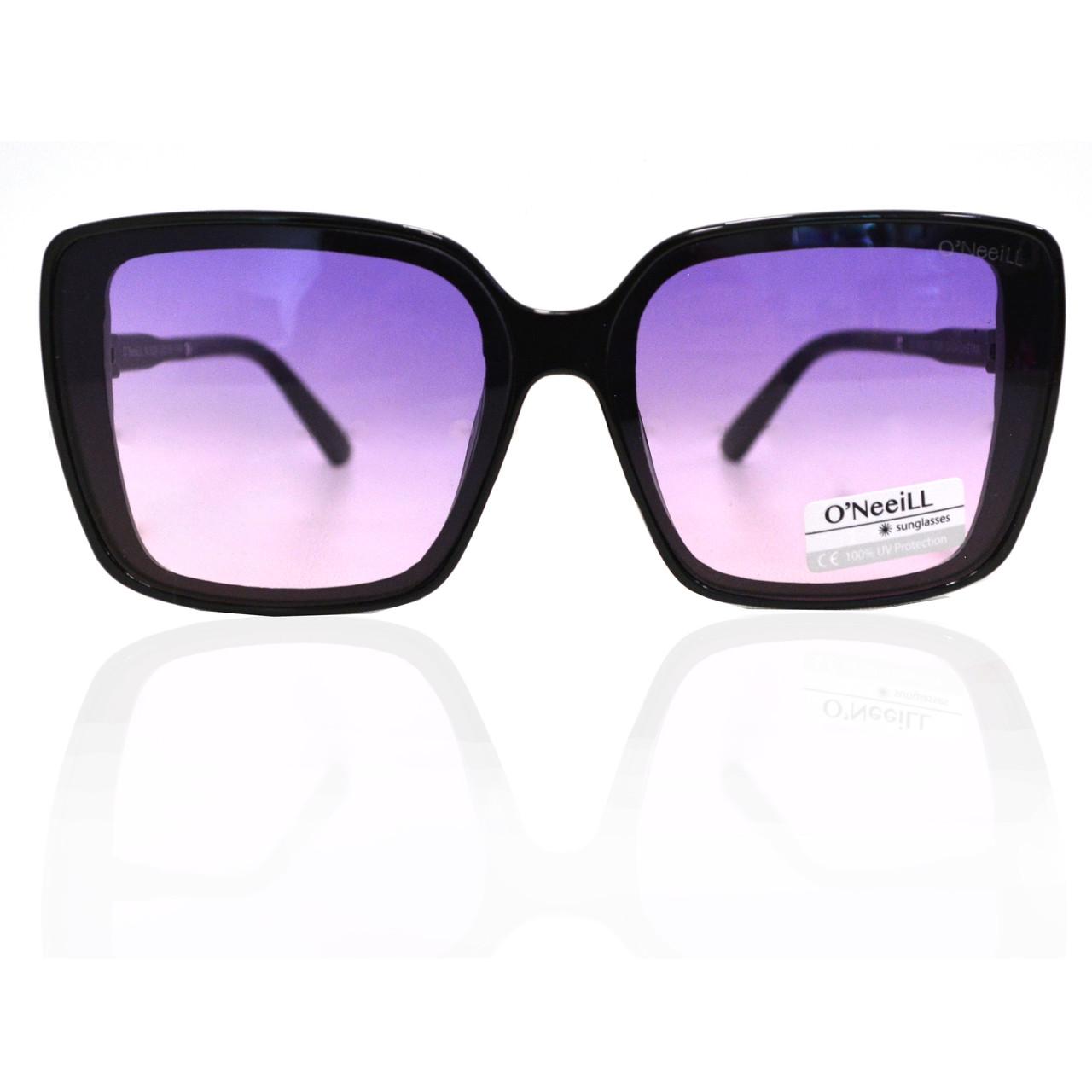 Солнцезащитные очки с фиолетовыми стеклами с узором на дужке UV 400 O'NeeiLL N G 28 черные - фото 8