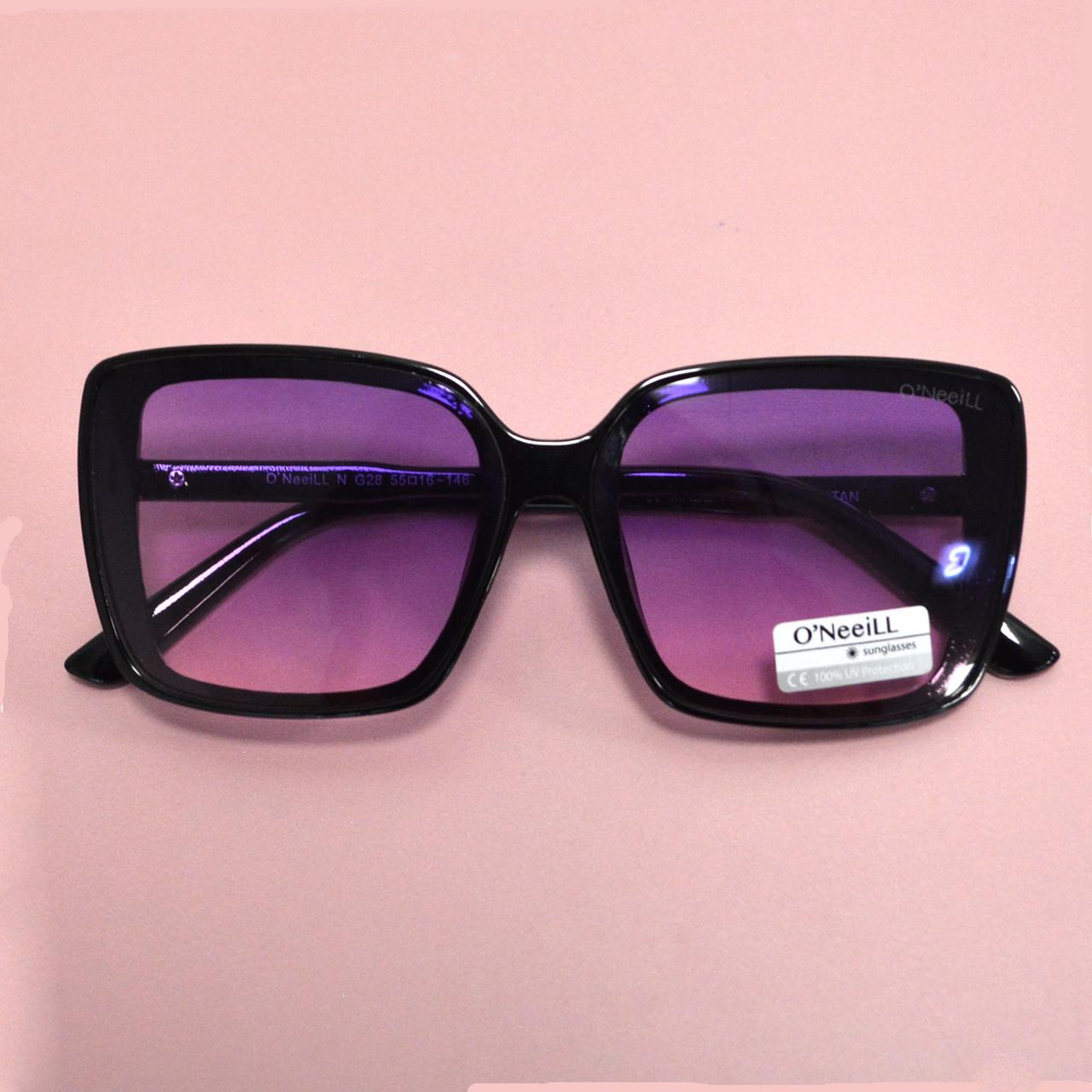 Солнцезащитные очки с фиолетовыми стеклами с узором на дужке UV 400 O'NeeiLL N G 28 черные - фото 9