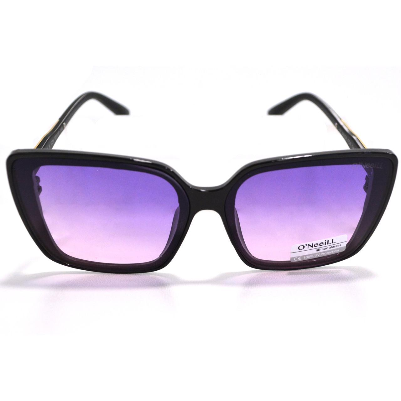 Солнцезащитные очки с фиолетовыми стеклами с узором на дужке UV 400 O'NeeiLL N G 28 черные - фото 10