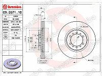 Диск тормозной перед MITSUBISHI Pajero II /Sport /Challenger V2# /3# /4#, K9# 91-, Delica Truck /L20