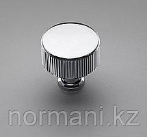 Ручка кнопка диаметр 35 мм, отделка никель глянец