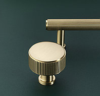 Ручка кнопка диаметр 35 мм, отделка золото матовое, фото 1