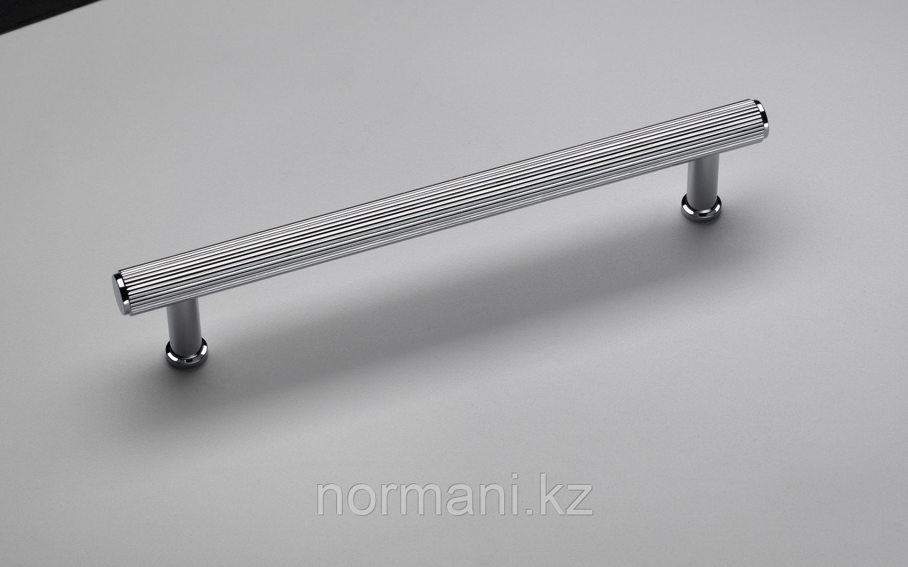 Ручка скоба 192 мм, отделка никель глянец