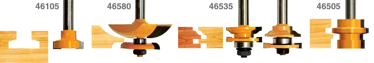 Набор фрез для изготовления филенчатых изделий, хвостовик 12 мм, 5 штук
