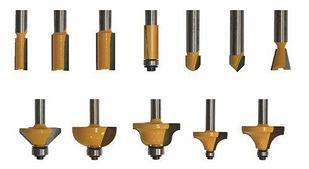 Набор фрез для декоративного применения, хвостовик 8 мм, 12 штук