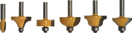 Набор фрез для декоративного применения, хвостовик 8 мм, 6 штук