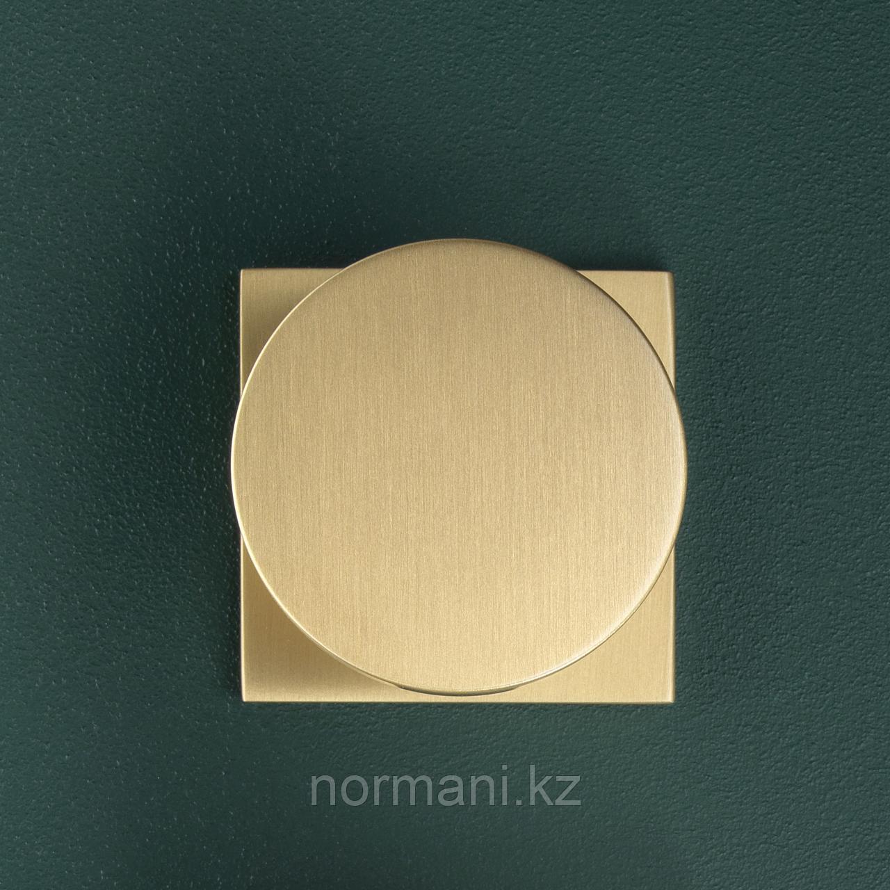Ручка кнопка диаметр 34 мм, отделка золото матовое