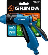 Пистолет поливочный двухкомпонентный, GRINDA PROLine B-R, плавная регулировка, курок сзади