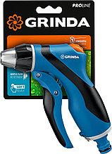 Пистолет поливочный, двухкомпонентный с регулятором, GRINDA PROLine F-R, плавная регулировка, курок сзади