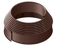 """Садовый бордюр """"Канта"""" 10 метров коричневый"""