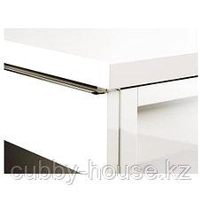 БЕСТО БУРС Письменный стол, глянцевый белый, 120x40 см, фото 3