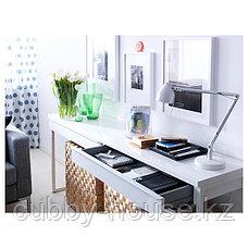 БЕСТО БУРС Письменный стол, глянцевый белый, 120x40 см, фото 2
