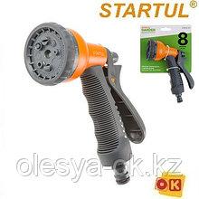 Пистолет-распылитель 8-режимов с мягкой ручкой STARTUL GARDEN (ST6010-04)