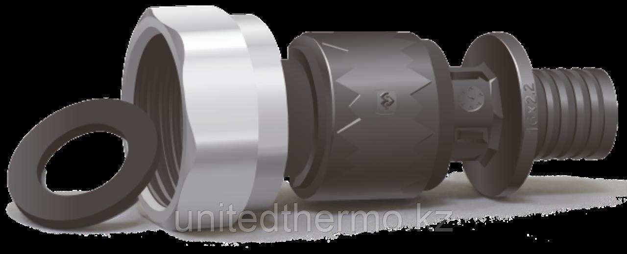 Муфта d16x3/4, с накидной гайкой и плоским соединением Varmega-fit