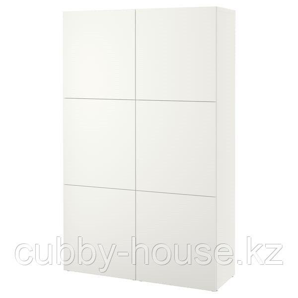 BESTÅ БЕСТО Комбинация для хранения с дверцами, белый/Лаппвикен белый, 120x42x193 см