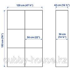 BESTÅ БЕСТО Комбинация для хранения с дверцами, белый/Лаппвикен белый, 120x42x193 см, фото 3