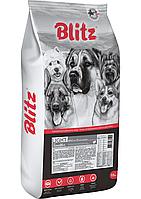 Сухой корм для собак всех пород с лишним весом Blitz Adult Sensitive Light с индейкой