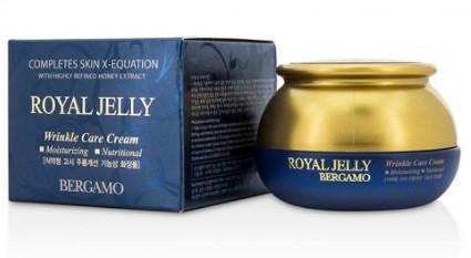 Bergamo Антивозрастной крем против морщин с экстрактом меда Royal Jelly cream   50 мл