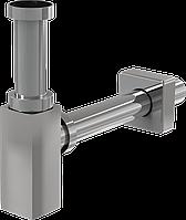 Сифон для раковины ALCAPLAST Ø32 DESIGN, цельнометаллический квадратный (A401)