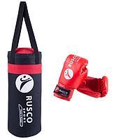 Набор для бокса Rusco 6, чёрно-красный