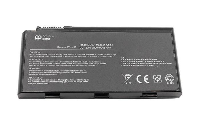 Аккумулятор PowerPlant для ноутбуков MSI GX660 Series (BTY-M6D, MIX780LP) 11.1V 7800mAh