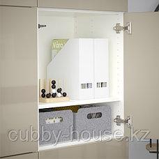 BESTÅ БЕСТО Комбинация для хранения с дверцами, белый/Сельсвикен глянцевый/бежевый, 120x42x193 см, фото 2