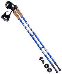 Палки для скандинавской ходьбы Rainbow, 77-135 см, 2-секционные, синий/голубой Berger
