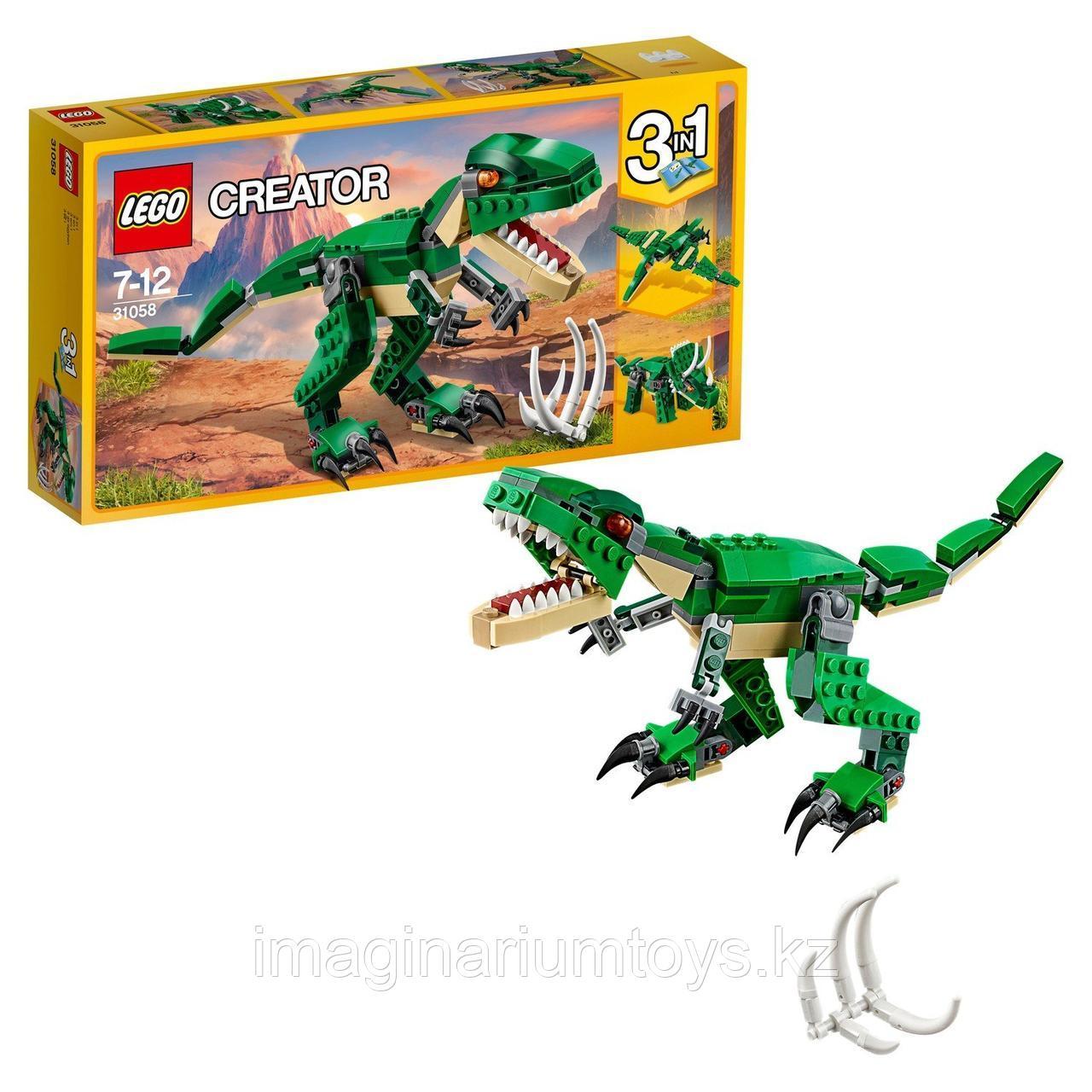 LEGO Creator конструктор 3 в 1 Грозный динозавр 31058