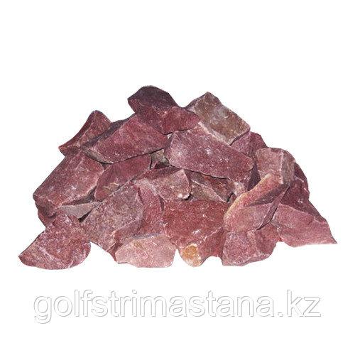 Камни для каменок, Малиновый Кварцит колотый, 20 кг