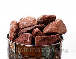 Камни для каменок, Малиновый Кварцит, обвалованный (коробка 20 кг)