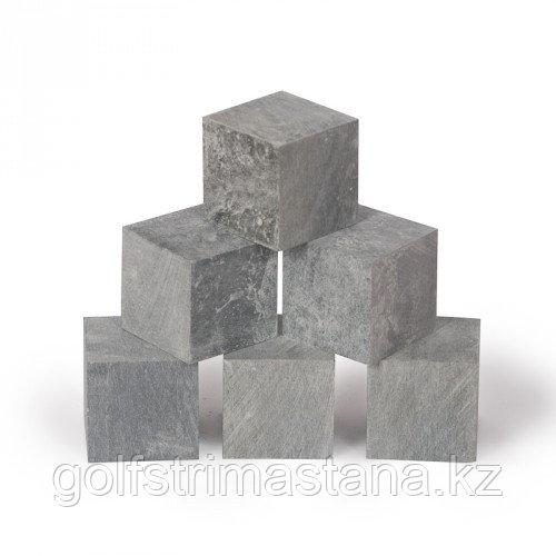Камни для каменок, Талькохлорит кубики, коробка 18 кг