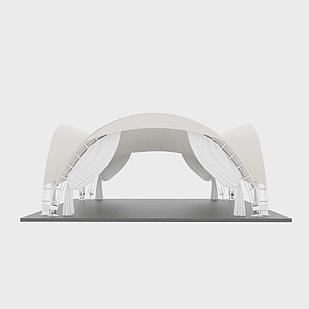 Арочный шатер 9х9 м