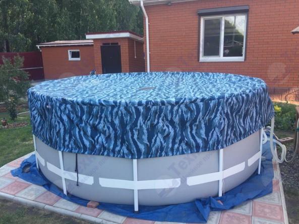 Защитный чехол на бассейн текстильный d-3.54м