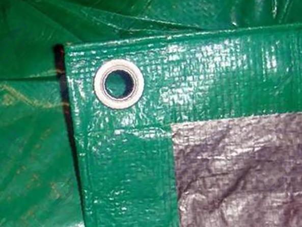 Полог тарпаулин 5х10 м, 120 г/м2, с люверсами